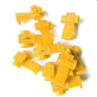 OEM 12-10 AWG Ez Tap Car Scotch Locks Quick Splice for Car Electrical Terminals Set of 10 (Yellow)