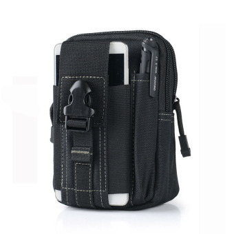 Outdoor Sports Tactical Pockets M 5.5 / 6 inch Waterproof Bag 600DWaterproof Nylon Phone Running Belt Waist Bag(Black)