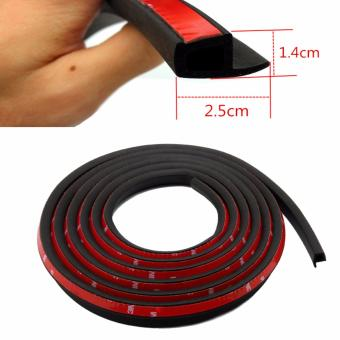 P Type Car Seal Strip 4M Auto Door Window Trunk Seal DustproofSound Insulation EPDM RUBBER Strips - intl