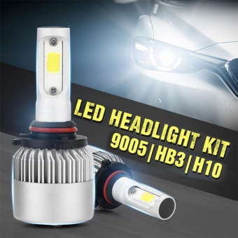Pack of 2 COB LED Auto Car Headlight, 40W 10000LM All In One CarLED Headlights Bulb Fog Light, White 6000K Head Lamp H1 H4 H7 H8 H9H10 H11 H13 HB1-HB5 9003-9008 Models:9005/HB3/H10, - intl