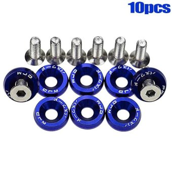 PAlight 10PCS Car Screws Washers Accessory JDM Fender Bumper Washers Lisence Plate Bolts Kits for CIVIC ACCORD - intl