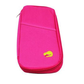 Passport Holder Long (Pink) with Free Security Credit Card Wallet(Violet)