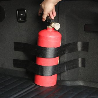 perfect design 2pcs Car Trunk Fire Extinguisher Strap Holder SafetyStrap - intl