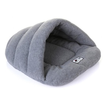 Pet Cat Bed Small Dog Puppy Kennel Sofa Polar Fleece Material PetBed - Grey XS - intl