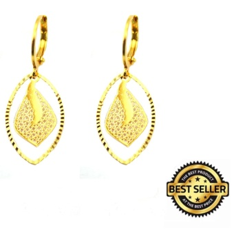 Piedras jewelry 18 k micron plating drop earring