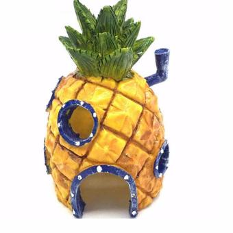 Pineapple House Aquarium Decoration Ornament