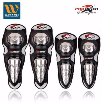 PRO-BIKER Knee Shin Protector Motorcycle Racing Knee GuardsProtective Pads for Skating Skateboard Sports Safety #31655