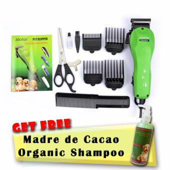 Professional Low-Noise Corded Pet Clipper Kit Set (Green DC-38) with Free Pro-lific Specialized Madre de Cacao Organic Shampoo 250mL