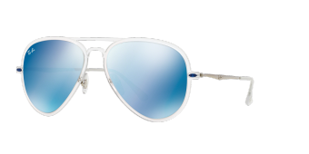 Ray-Ban Aviator Light Ray II Blue Mirror RB4211 646/55 (56-17