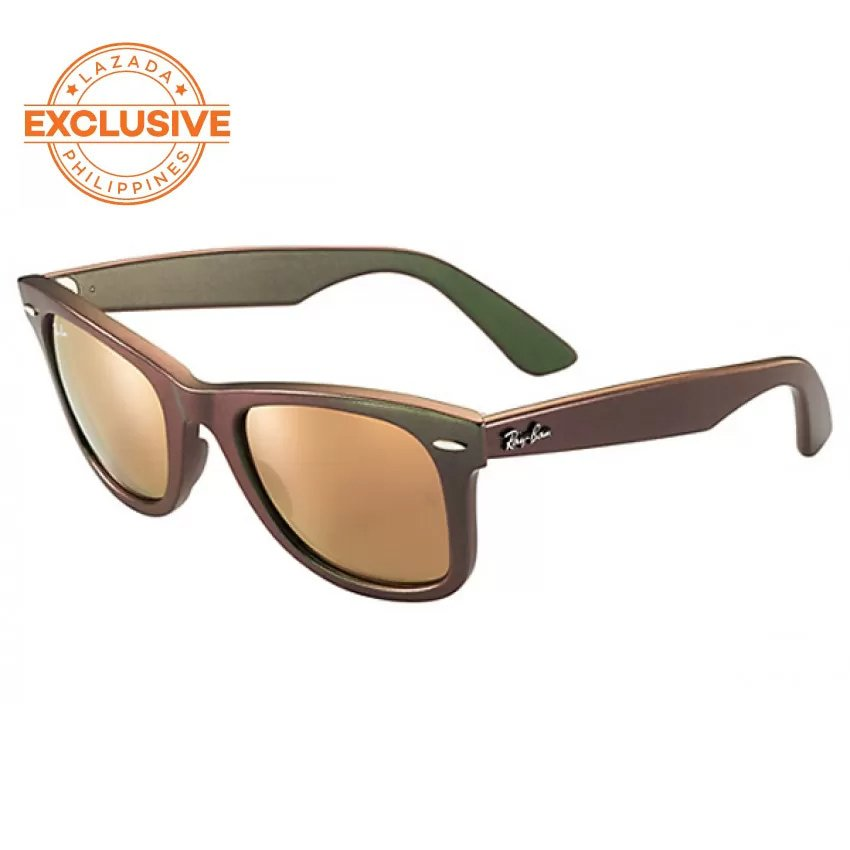 how to know original ray ban  Ray-Ban Original Wayfarer Cosmo Copper Flash Sunglasses RB2140 ...