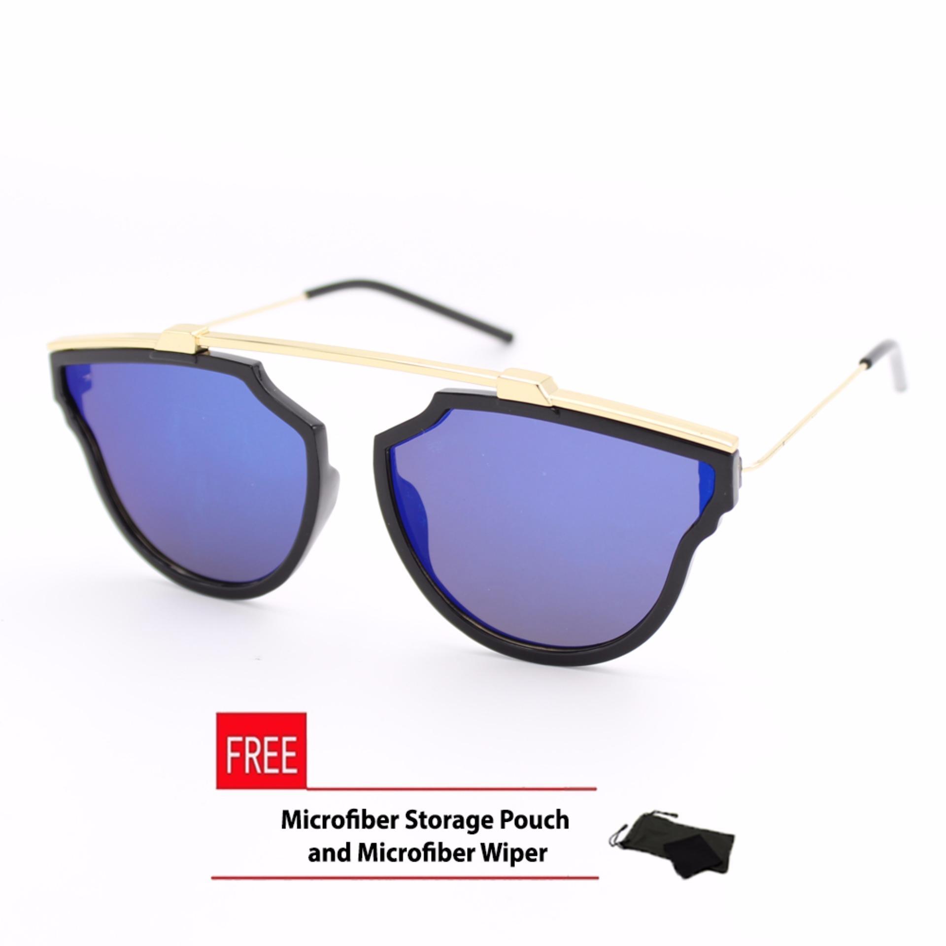 075ecef6214 Reflective aviator sunglasses black frame with blue lens lazada jpg 999x999  Basketball shaped sunglasses