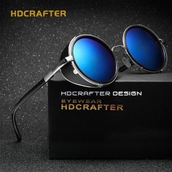 Retro Vintage Steampunk Sunglasses Round Sun Glasses For Men/Women Unisex Eyewear Accessories - intl
