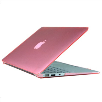 Rubberized Protective Tablet Case For Apple Mac-book Air 11.6 Inch (Pink) - intl