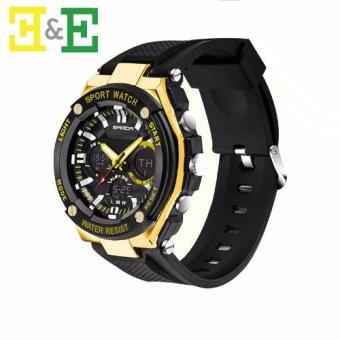 Sanda 733 Men Sport Digital Waterproof Analog Wrist Watch(Yellow)