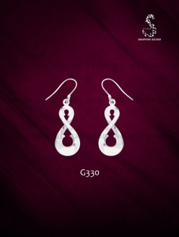 Silver first sterling silver 925 dangling earrings g330 lazada ph