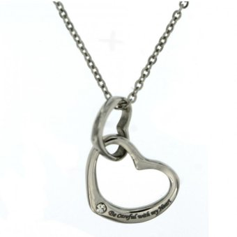 Silverworks X2516 Double Heart Necklace