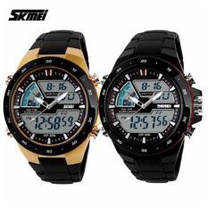 skmei sports watch for men skmei sports wristwatch skmei 1016 casual men digital quartz sports watch set of 2 multicolor