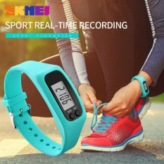PHP 379. SKMEI 1207 Women's Sports Watches Pedometer Calorie Sport Mileage Digital Watch Colorful Silicone Strap Fashion Wristwatches - Blue - intlPHP379