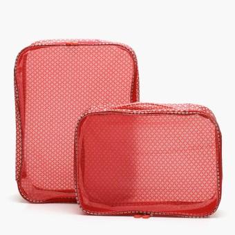 SM Stationery 2-piece Travel Luggage Organizer (Red)