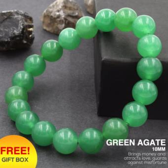 Tara Treasures Green Agate Charm Bracelet 10mm
