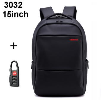 Tigernu Waterproof Large Capacity Laptop Backpack for 12-15.6inch Laptop Size M(black)