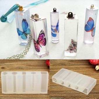Translucent Liquid Silicone Mold DIY Resin Jewelry Pendant Necklace Mold Tools - intl