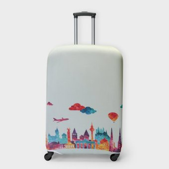 Travel Basic Germany Medium Luggage Covers (Yellow Green)