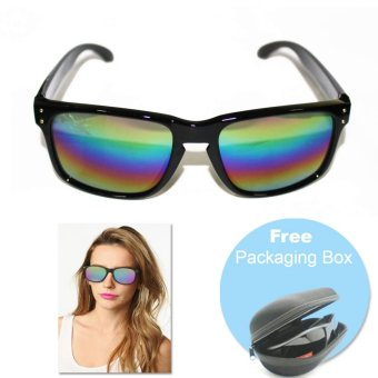 Unisex Mirror Wayfarer Sunglasses (Rainbow) with FREE Packaging Box