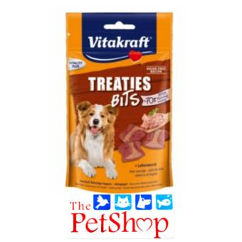 VitaKraft Dog Treats 144g +20% Treaties Bits Liver Sausage