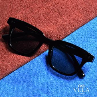 Vula 102B Sam Square Wayfarer Unisex Sunglasses Shades (Black)