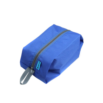 Waterproof Portable Travel Tote Toiletries Laundry Shoe Pouch Storage Bag Blue