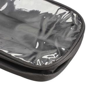 Waterproof Shoe Bag Travel Storage Visual Breathable Tote Bag Black - picture 2