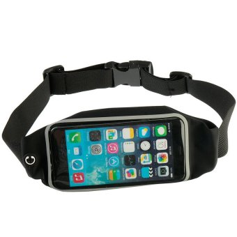 Waterproof Sports Running Waist Belt Pouch for 3.5 up to 4.7 inchesSmart Phone (Black)