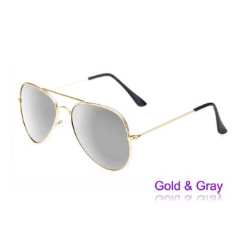 Women Men Classic Retro Sunglasses Metal Frame Sun Glasses - intl