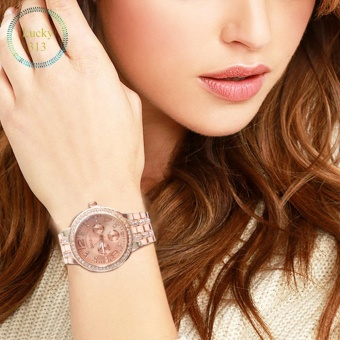 Women's Stainless Steel Strap Watch Geneva (Rose Gold)
