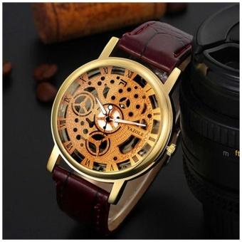 ... Fashion Leather Business Quartz Men Black Watch - intl . Source · Yazole Hollow men and women belt quartz watch 321 gold shell gold plate brown belt by