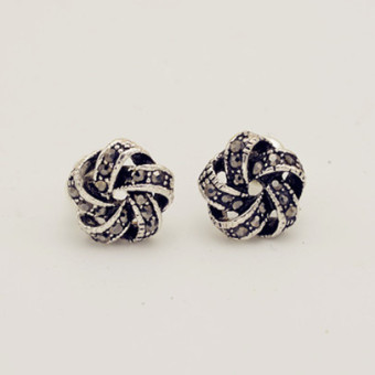 Zhuihao cute female Rose Flower earrings silver needle stud