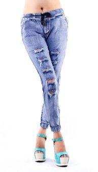 Wonderful OWPh Female Jogger Pants Blue Jeans  Lazada PH