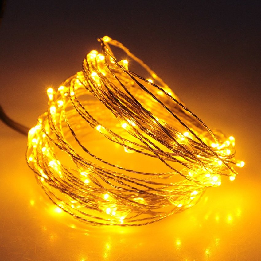 LED String Fairy Light Lamp Waterproof DC 12V Copper Wire Christmas 10M Colorful Lazada PH
