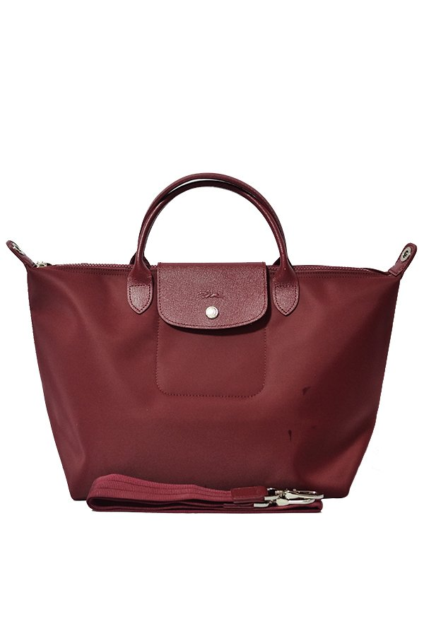 Longchamp Le Pliage Neo Tote Bag (Maroon)