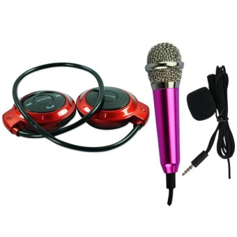 mini 503tf sports stereo wireless bluetooth headset red with 3 5 mini microphone voice. Black Bedroom Furniture Sets. Home Design Ideas