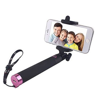 selfie stick with wireless bluetooth foldable pocket size for iphone6s 6 plus samsung ios. Black Bedroom Furniture Sets. Home Design Ideas