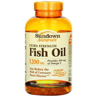 Sundown naturals extra strength fish oil 1200 mg 200 for Triglyceride fish oil