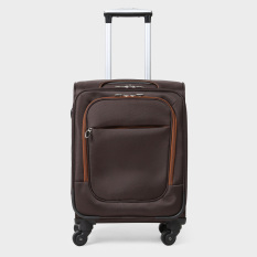 Travel Basic Leon Brown Soft Suitcase (Brown)