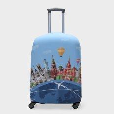 Travel Basic World Medium Luggage Covers (Blue)