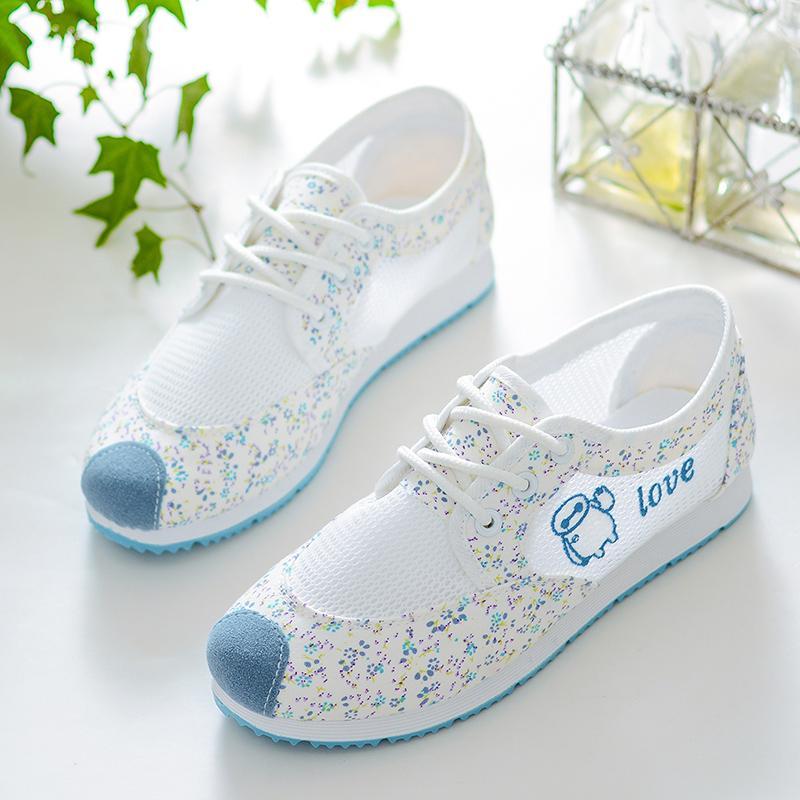 Giá bán Cô Gái Mặt Lưới Thoáng Khí Giày Vải Bố 2019 Mùa Hè Mẫu Mới Cho Trẻ Em Đế Mềm Giày Con Gái Mẫu Giáo Giày Trắng Form Nhỏ