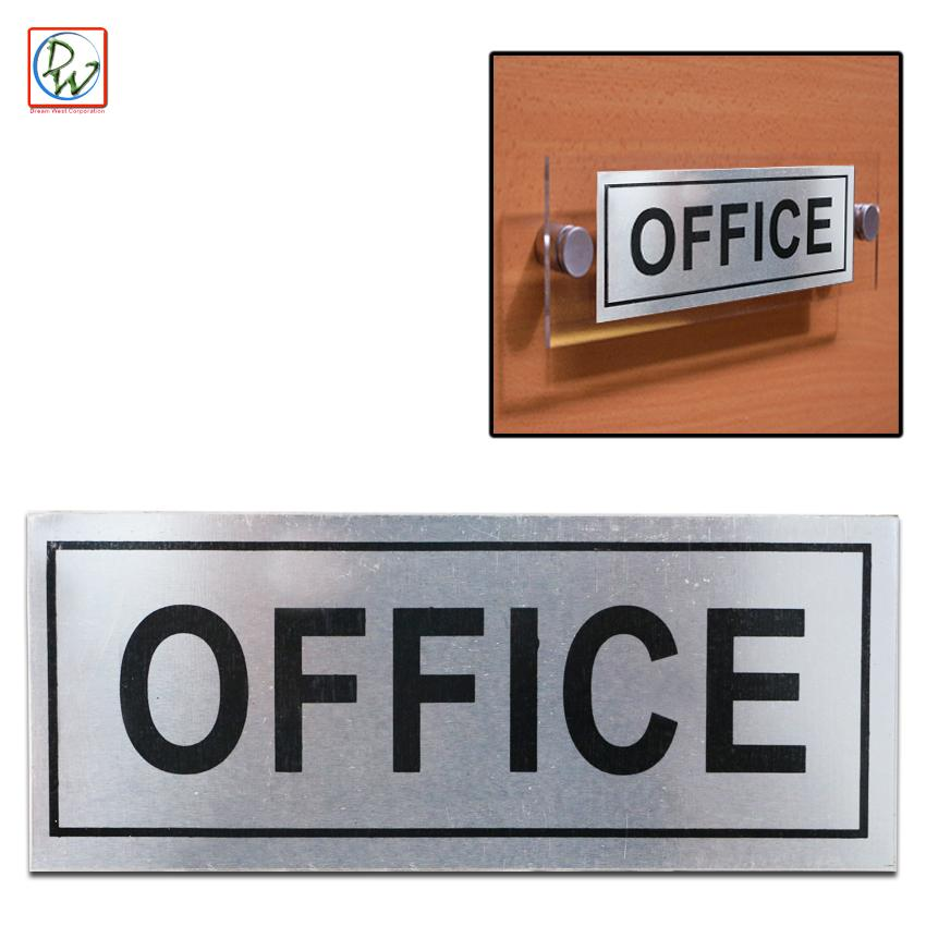 Office door sign aluminium plaque shop office self adhesive sticker warning safety sign