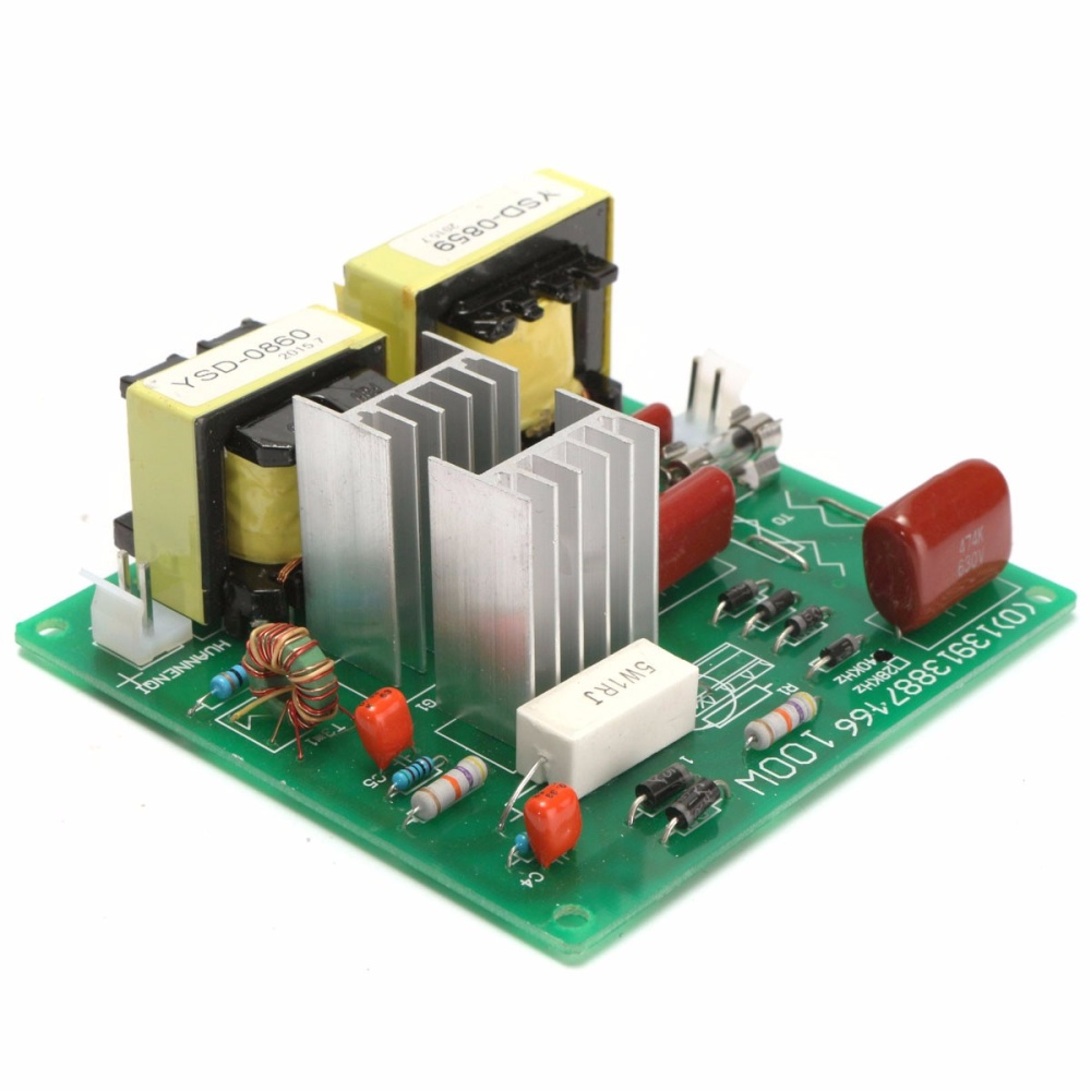 Ac110v 100w 40khz Ultrasonic Cleaner Power Driver Board W 60w 40k Circuit Medium Ultrasound Transducer Circuits Image