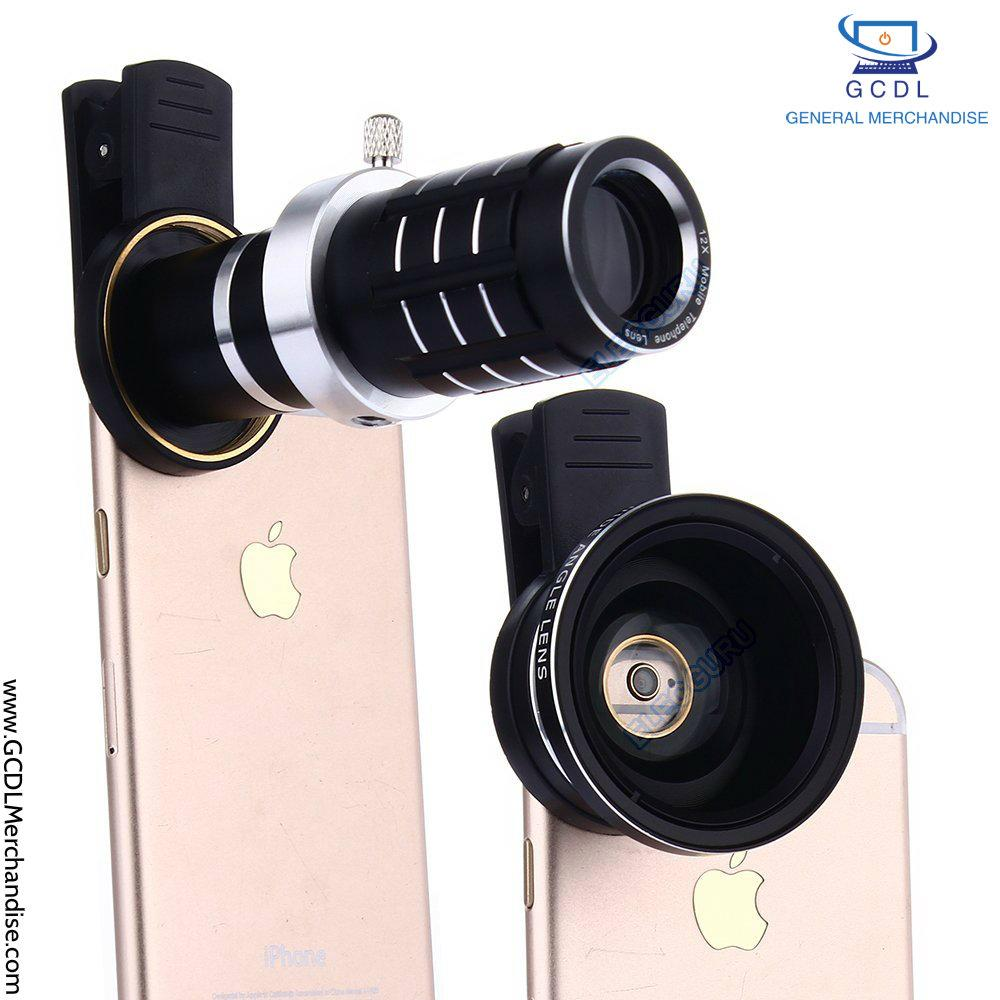 Discount Fancy 12x Universal Zoom Telephoto Lens Clip For Mobile Phone Telescope 8x Optical With Clamp Black Hd Camera On