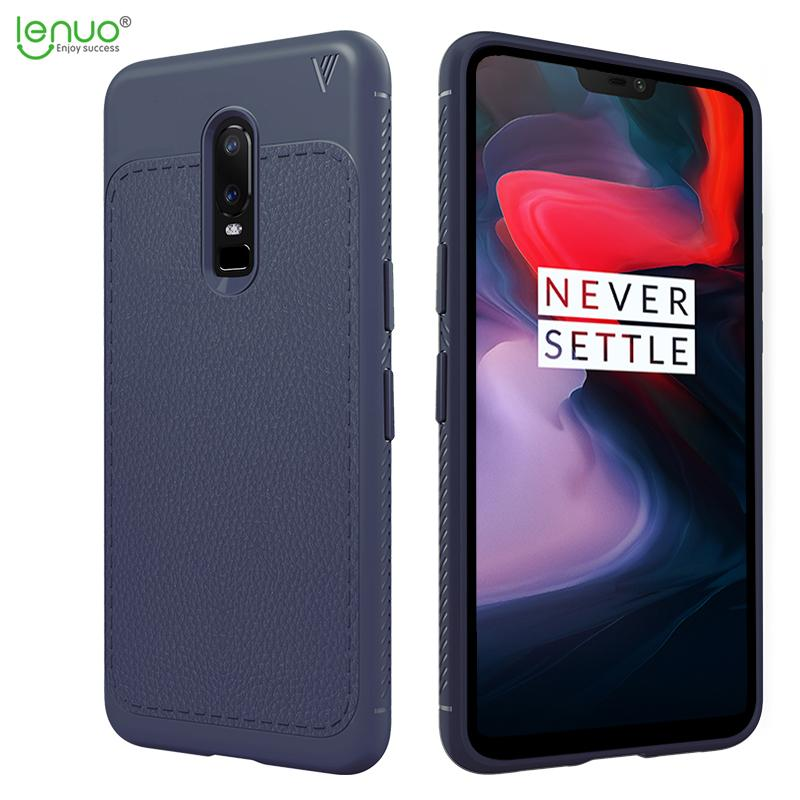 Lenuo Slim TPU Shock Absorption Anti-Scratches Flexible Soft Protective Case Cover for OnePlus 6